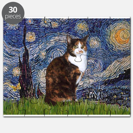 Starry Night & Calico Cat (#1 Puzzle