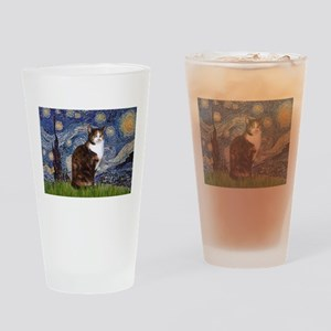 Starry Night & Calico Cat (#1 Drinking Glass
