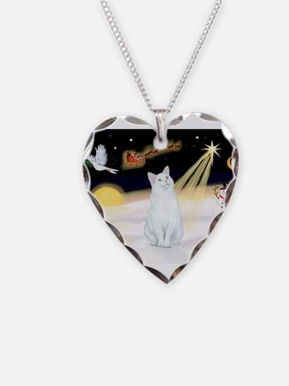 Unique Christmas cat Necklace