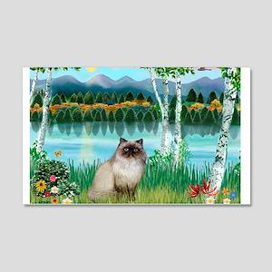 Birches / Himalayan Cat 22x14 Wall Peel
