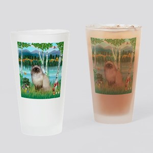 Birches / Himalayan Cat Drinking Glass