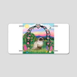 Rose Arbor / Himalayan Cat Aluminum License Plate