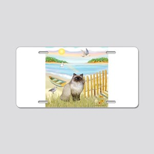 Rowboat / Himalayan Cat Aluminum License Plate