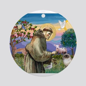 St Francis Himalayan Ornament (Round)
