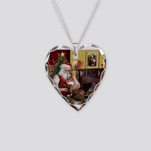 Santa's Maine Coon Necklace Heart Charm