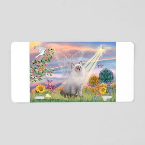 Cloud Angel & Ragdoll Aluminum License Plate