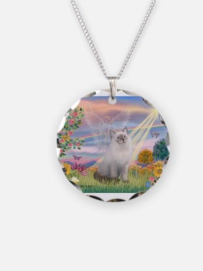 Cloud Angel & Ragdoll Necklace