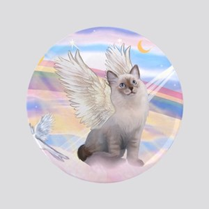 "Ragdoll (#1) cat Angel 3.5"" Button"