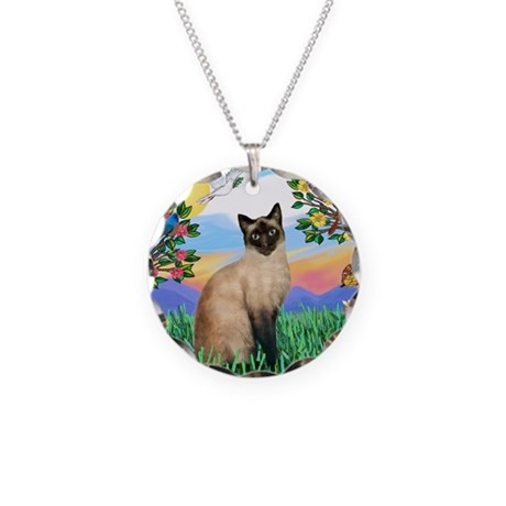 Bright Life / Siamese Necklace Circle Charm