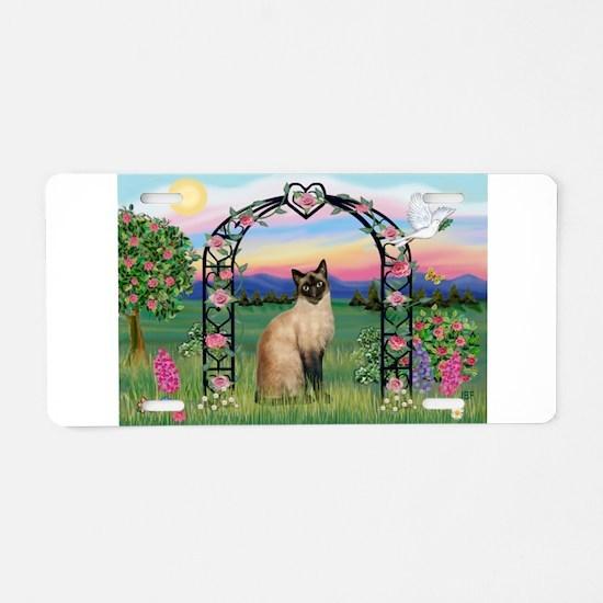 Rose Arbor / Siamese Aluminum License Plate