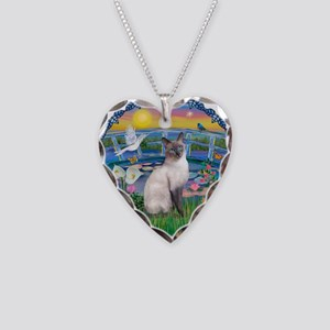 Lilies(JF)/Siamese Cat 24 ( Necklace Heart Charm