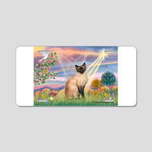 Cloud Angel & Siamese Aluminum License Plate