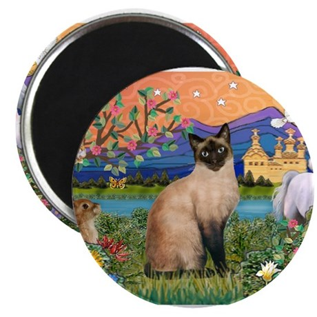 Siamese (1) in Fantasy Land Magnet