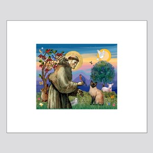 St Francis / Siamese Small Poster