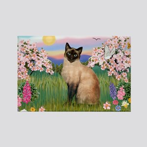 Blossoms & Siamese (#1) Rectangle Magnet