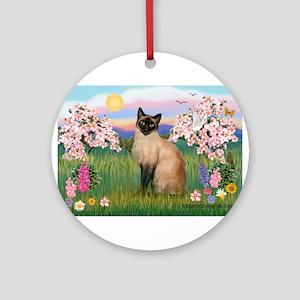 Siamese Spring Blossom Ornament (Round)