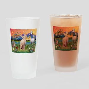Fantasy Land Sphynx Cat Drinking Glass
