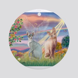 Cloud Angel / Sphynx cat Ornament (Round)