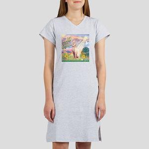 Cloud Angel & Sphnx cat Women's Nightshirt