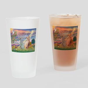 Cloud Angel & Sphnx cat Drinking Glass