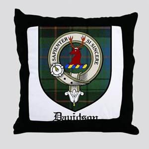 Davidson Clan Crest Tartan Throw Pillow