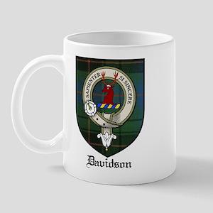 Davidson Clan Crest Tartan Mug