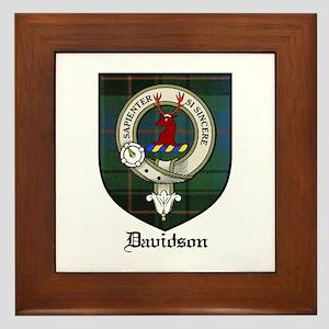 Davidson Clan Crest Tartan Framed Tile