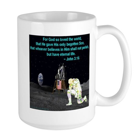 Moonbowing John 3:16 Large Mug