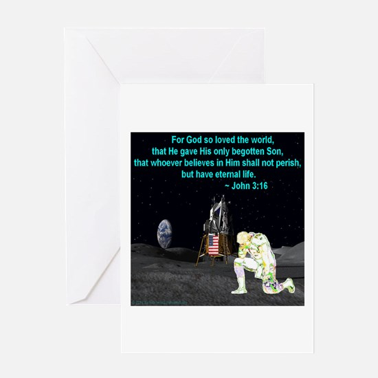 Moonbowing John 3:16 Greeting Card