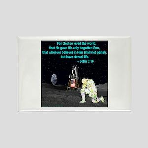 Moonbowing John 3:16 Rectangle Magnet