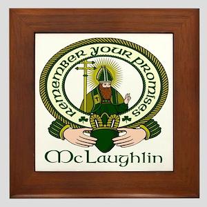 McLaughlin Clan Motto Framed Tile