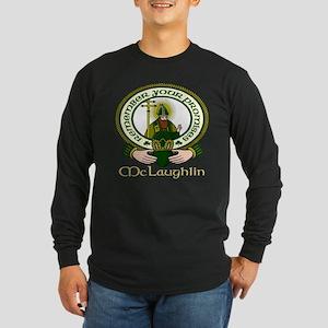 McLaughlin Clan Motto Long Sleeve Dark T-Shirt