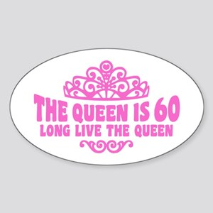 Funny 60th Birthday Sticker (Oval)