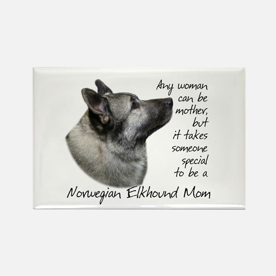 Elkhound Mom Rectangle Magnet