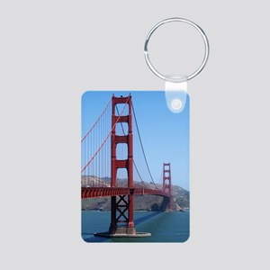 San Francisco Golden Gate Aluminum Photo Keychain
