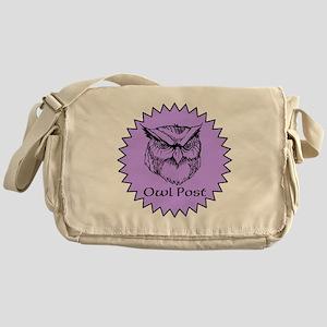 Owl Post (purple) Messenger Bag