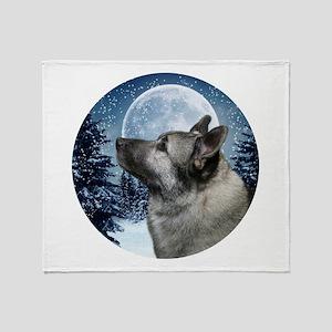 Norwegian Elkhound Throw Blanket