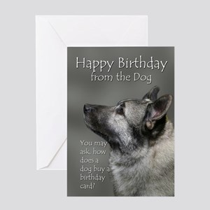 Norwegian greeting cards cafepress from the elkhound birthday card stopboris Choice Image