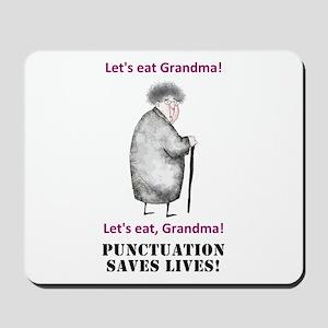 Grammar Saves Lives Mousepad