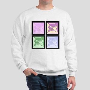 Pastel Pop Art Typewriter Sweatshirt