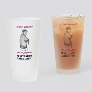 Grammar Saves Lives Drinking Glass