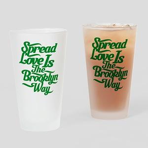Brooklyn Love Green Drinking Glass