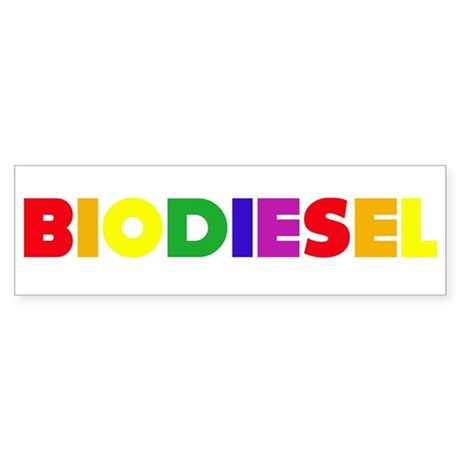 Rainbow Biodiesel Bumper Sticker