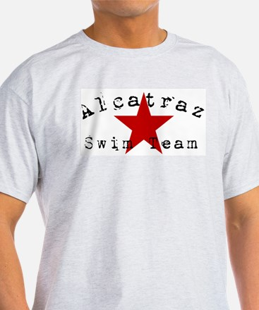 """Alcatraz Swim Team"" Ash Grey T-Shirt"