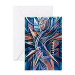 Lightning Thoughts Greeting Card