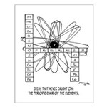 Periodic Chair Of The Elements Small Poster