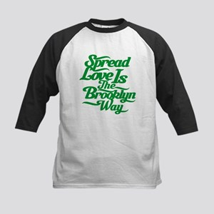 Brooklyn Love Green Kids Baseball Jersey