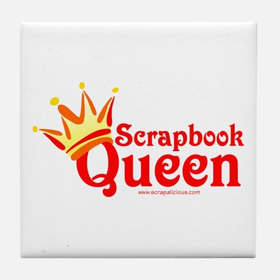 Scrapbook Queen - Red Tile Coaster