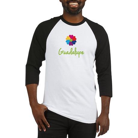 Guadalupe Valentine Flower Baseball Jersey