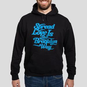 Brooklyn Love Blue Hoodie (dark)